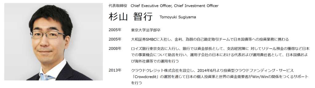 クラウドクレジット代表取締役・杉山智行さんの経歴