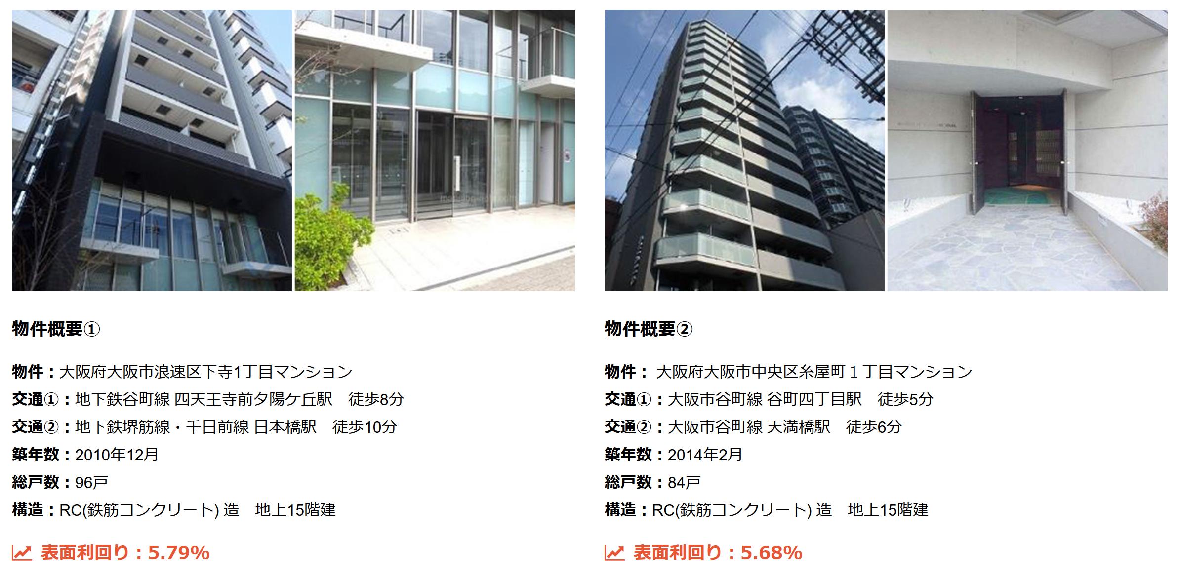 大阪・京都・兵庫・名古屋の販売マンション例