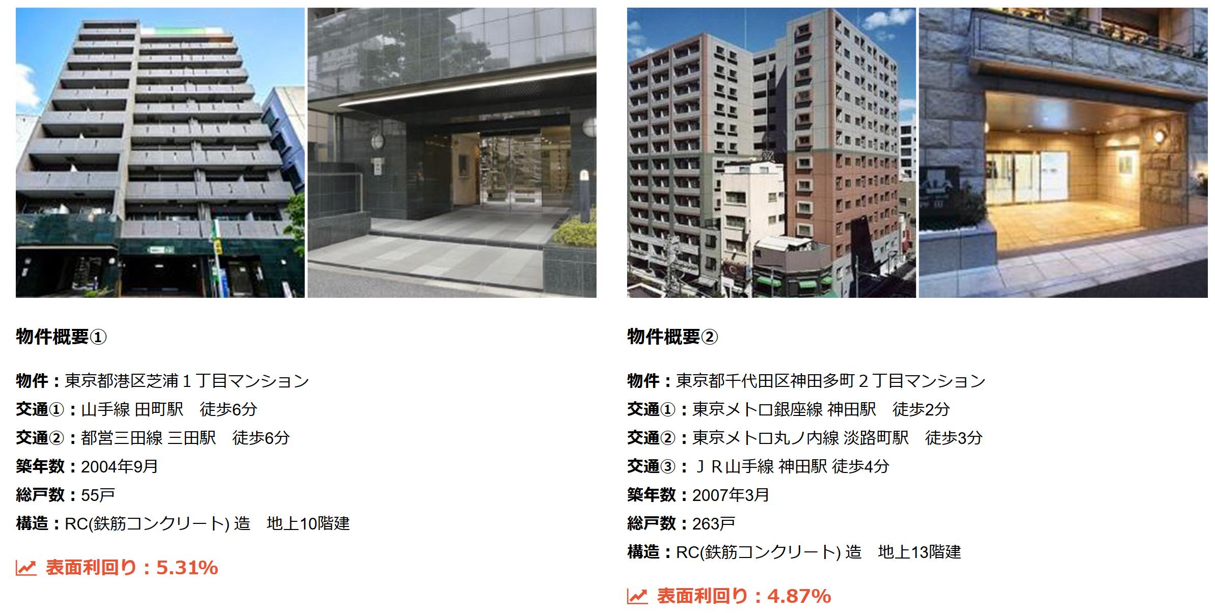 東京・横浜の販売マンション例
