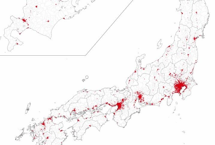 人口集中地区(全国)